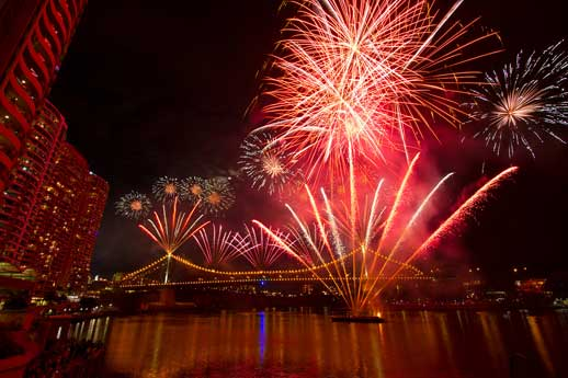 Riverfire fireworks over the Brisbane River