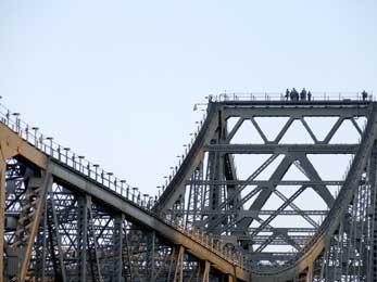 Standing on top of the Story Bridge in Brisbane