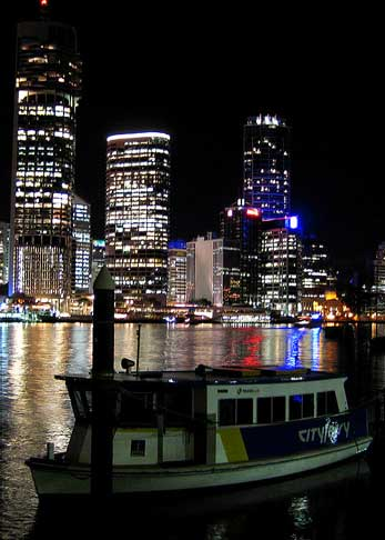 Brisbane River at night