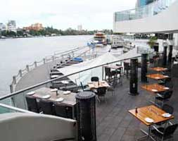Riverside restaurant in Brisbane