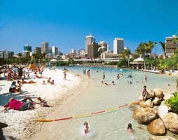 South Bank beach Brisbane